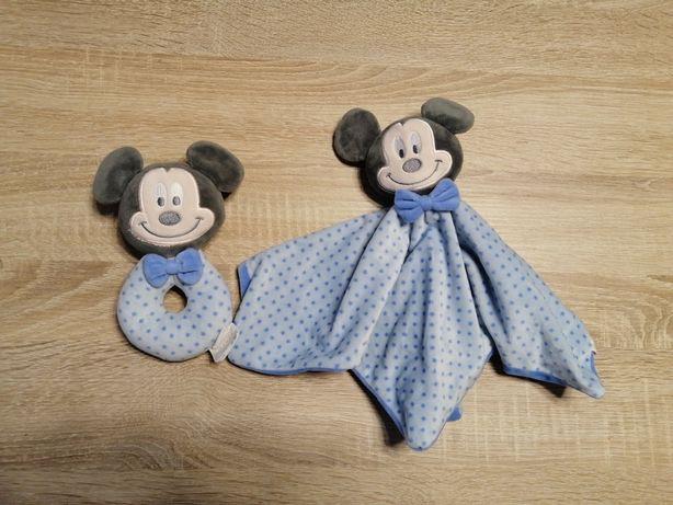 Zabawki niemowlęce, grzechotka i przytulanka