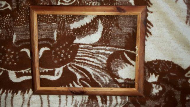 Duża rama drewna na obraz lub zdjęcie plakat