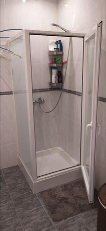 Cabine duche aluminio 75x75