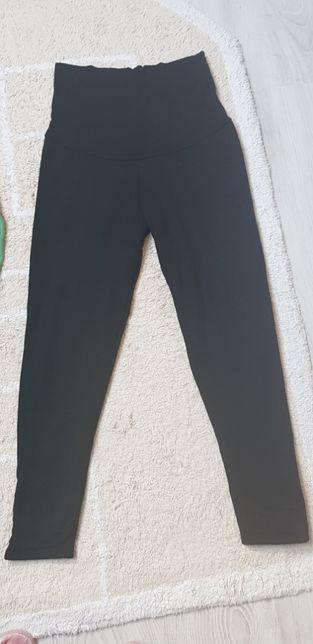 Spodnie, legginsy ciążowe ocieplane S/M i bluzka By Insomnia S/XS