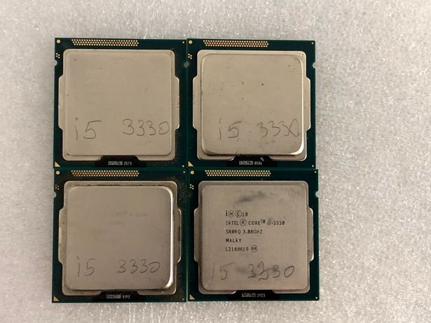 Процессор Intel Core i5 3330 4 ядра 4 потоки по 3.0(3.2)GHz s1155 бу