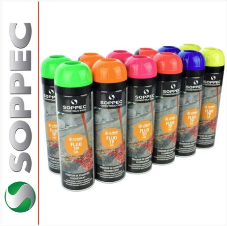 Soppec Fluo Zestaw Farb geodezyjnych 12 sztuk MIX 500ml