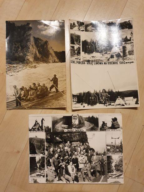 Stare zdjęcia góry Szklarska Poręba Dunajec 3szt. czarno-białe duże