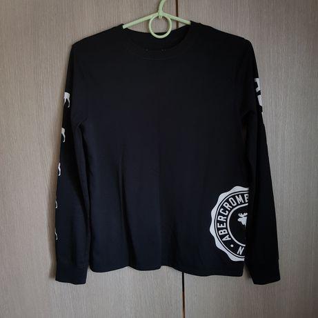 Czarna bluzka z długim rękawem Abercrombie & Fitch 9/10 lat