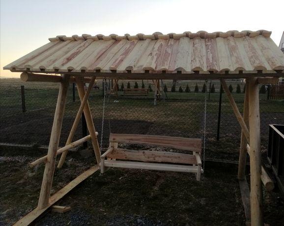 Huśtawka Ogrodowa z Dachem