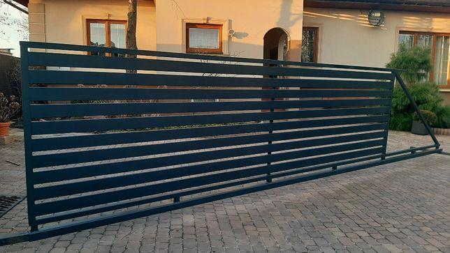 Brama Przesuwna 4-6m Ocynk Malowana Proszkowo Montaż Cała Polska