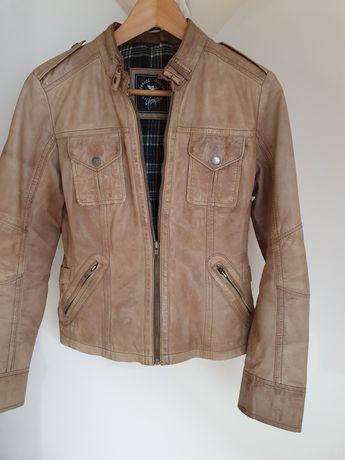 kurtka skórzana firmy gipsy rozmiar S kolor beż