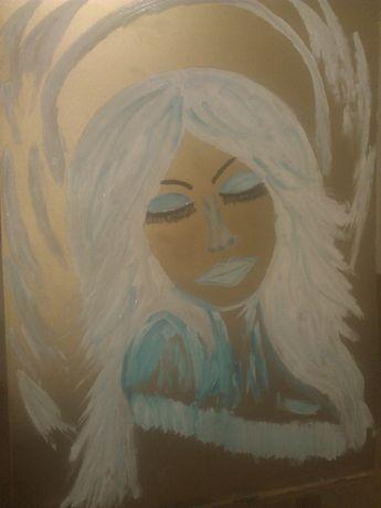 Anioł obraz ręcznie malowany