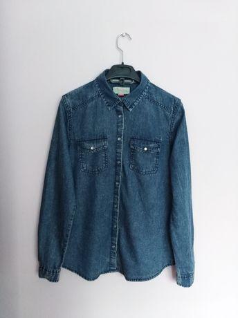 Koszula jeansowa zapinana S 36