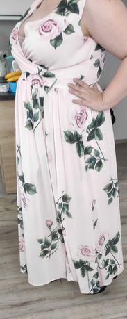 Sukienka maxi - pudrowy róż