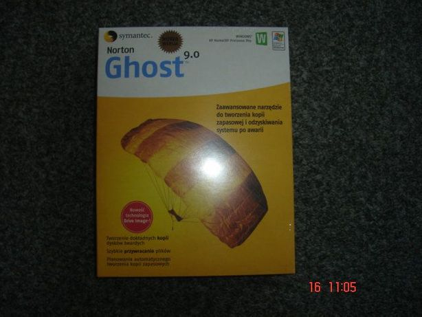 Norton Ghost 9.0 oryginał zapakowany obraz dysku