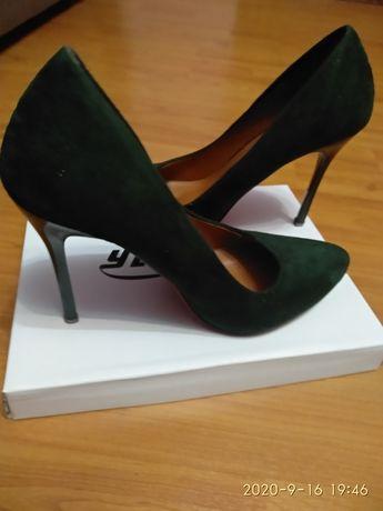 Туфлі лодочки (колір хакі)