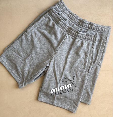 шорты серые летние мужские хлопок M L размеры ориг Puma Regular Fit