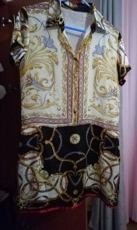 Vestido acetinado e fresco