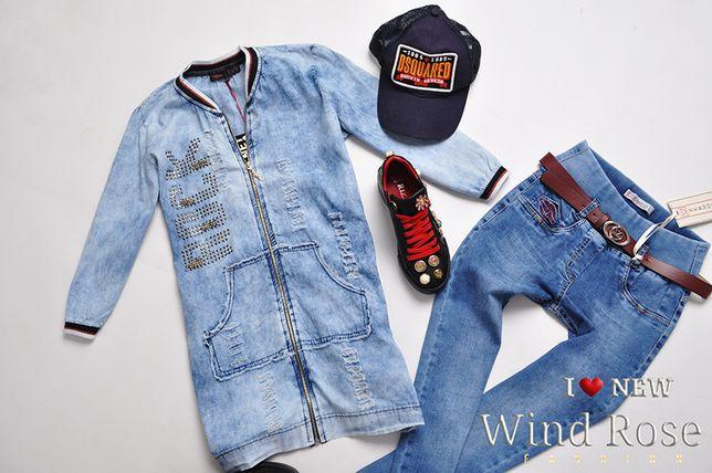 SIGNET płaszczyk jeansowy PRZETARCIA DŻETY 36