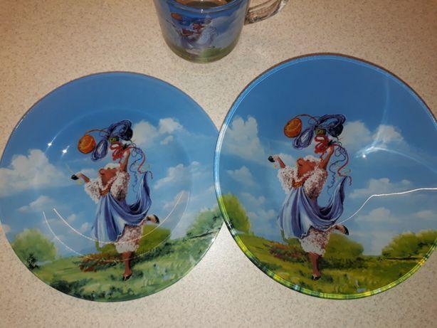 Новый набор детской посуды Украина (глубокая тарелка, тарелка и чашка)