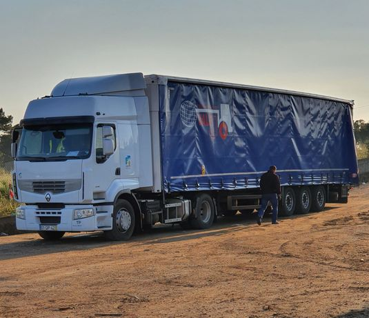 Alugamos espaços em camiões com entrega em toda a Europa e Portugal