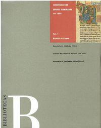 11036 Inventário dos Códices Iluminados Até 1500