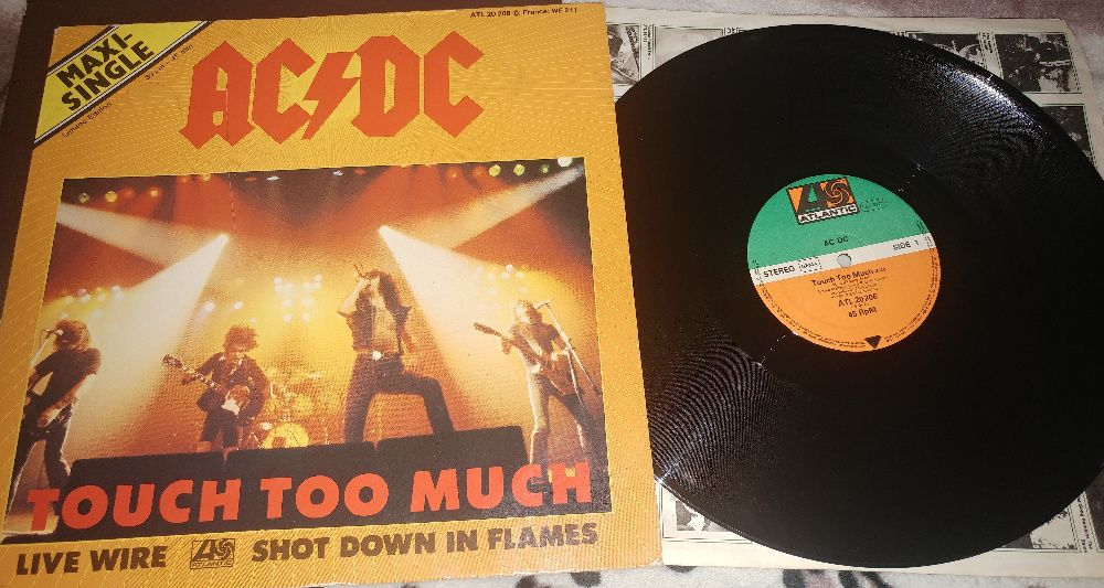 """AC/DC – Touch Too Much 12"""", 45 RPM, Maxi-Single, Limited Edition Киев - изображение 1"""