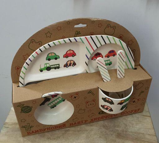 Бамбуковая посуда для детей большой набор
