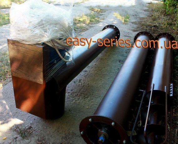 Шнековый транспортер погрузчик (винтовой конвейер, шнек) 219 мм 10 м.
