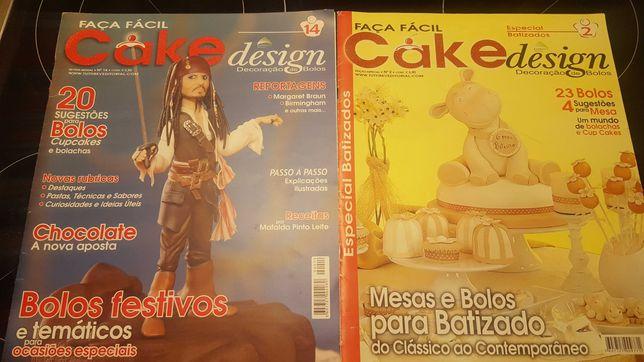 Conjunto revistas cake design