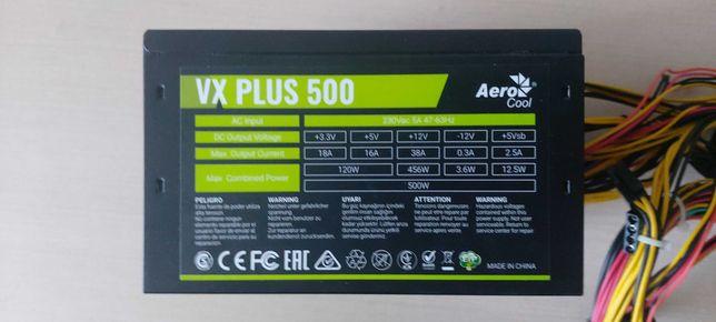 Блок питания 500 Ват   Aerocool VX  500 Plus 500W  Блок живлення