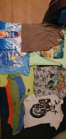 Koszulki(23sztuki) chłopiec 4-6 lat.110 do 122 cm.plus swterek