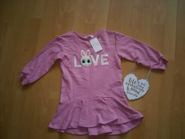 H&m sukienka bawelniana nowa rozm.98/104 kupiona za 79.99zl
