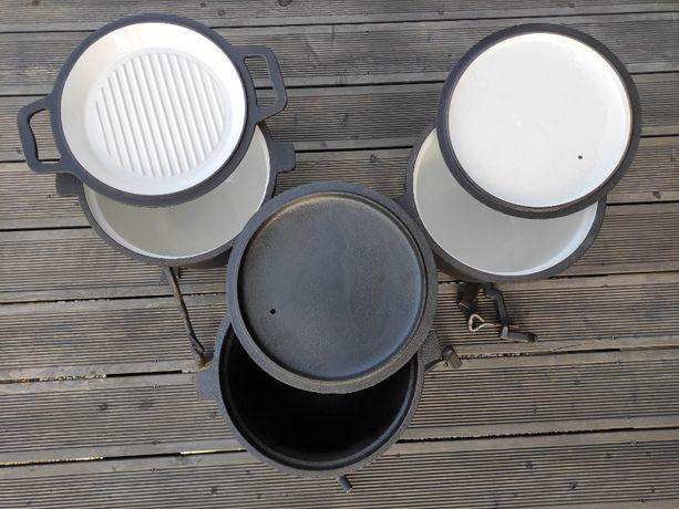 Kociołek żeliwny myśliwski emaliowany 11 litrów dostępny
