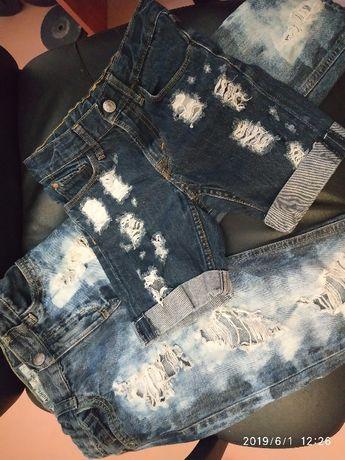 Крутые рваные джинсы и шорты на 5-6 лет