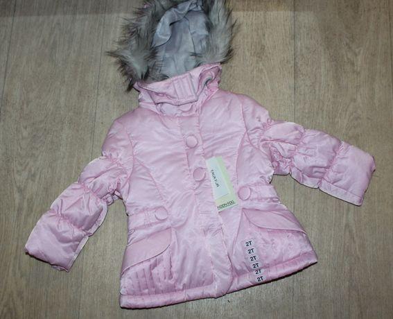 Куртка зимняя на девочку 2-3 года
