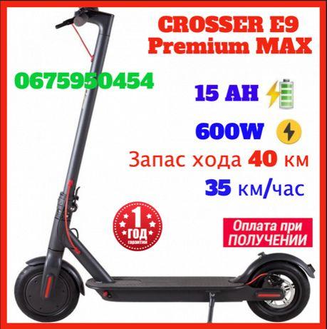 "Электросамокат Crosser E9 Premium MAX Tire 10"" Оригинал 600W 15.0Ah"