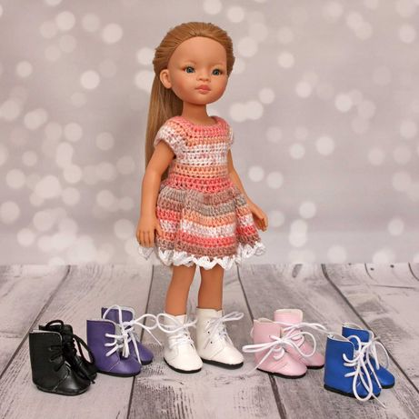 Buty kozaczki dla lalki Pola Reina i podobnych FIOLETOWE