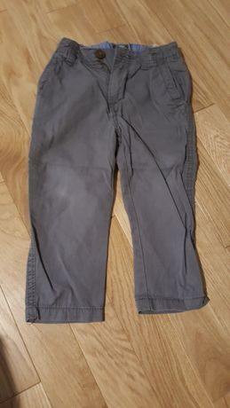 Szare eleganckie spodnie h&m 92