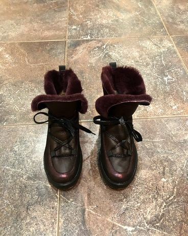 Угги ботинки кожа не Zara