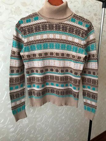 Продам женский коричневый гольф, свитер с узором Oodji, Zara