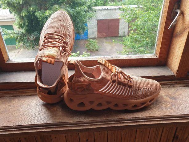 Кроссовки летние (кроссовки в сетку, кроссовки 45 кроссовки коричневые