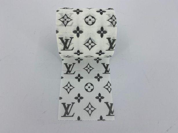 Туалетная бумага Луи Витон Louis Vuitton прикол, принтом, рисунком
