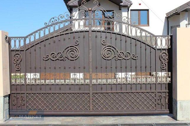 Ковані ворота, брами,монтаж автоматики.Сходи.Дашки,перила,паркан,забор