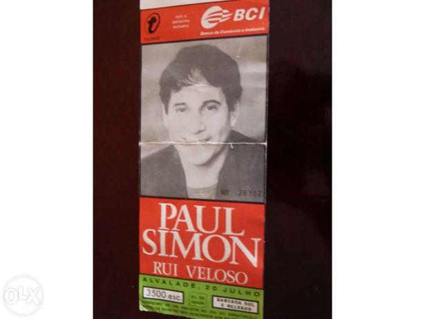 Bilhete concerto Paul Simon + Rui Veloso