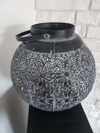 Lampion metal lampki 27 cm