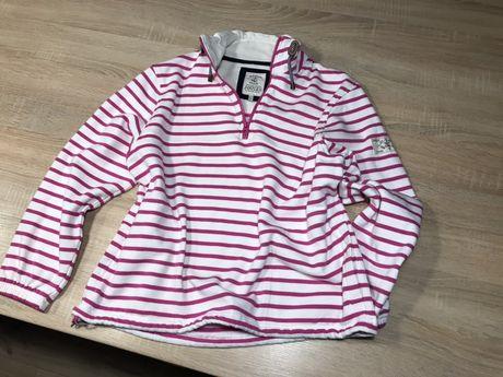 Bluza JOULES piękna mięciutka od spodu różowe paski roz. 42 XL