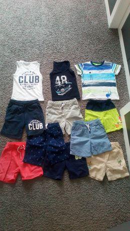 Paka ubrań na lato dla chłopca H&M, F&F, Zara, Mrofi, rozm 104