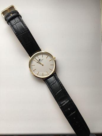 Zegarek Timemaster złoty na skórzanym pasku podobny Daniel Wellington