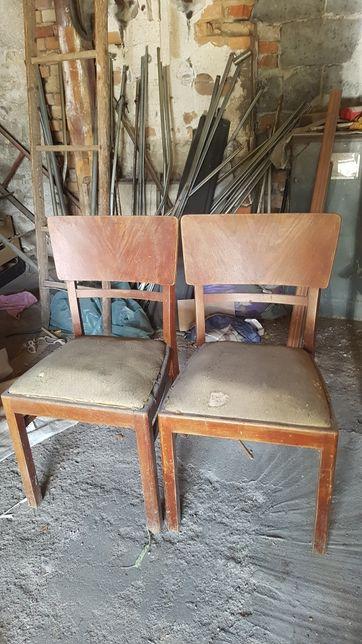 2 krzesła prl vintage do renowacji