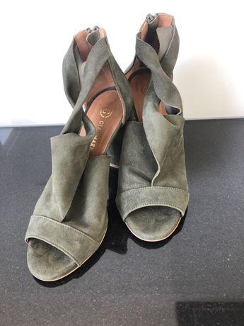 Gianmarko sandały , botki na słupku rozm. 37 zioone
