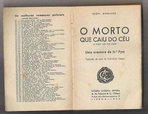 Livro O morto que caiu do Céu 1977