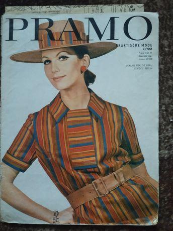 Журналы мод Pramo, Burda, Лада, Saison и др.