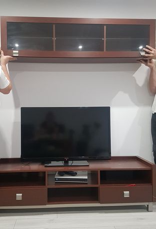 Komplet Mebli do salonu z szafką pod Tv
